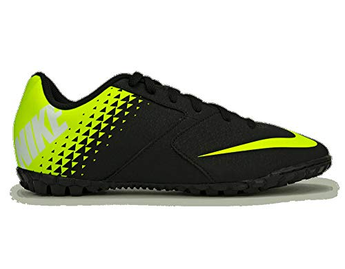 Nike Youth Bombax Turf Soccer Shoes (Black/Volt, Numeric_2_Point_5)