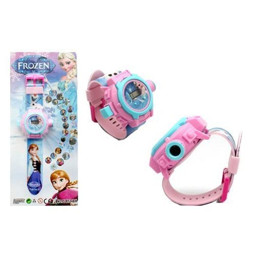 RVold VE 24 Images Frozen Projector Girl's Digital Toy Watch (Colour May Vary)