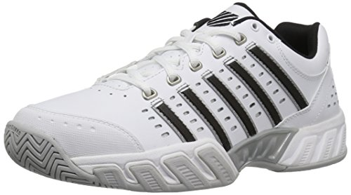 K-Swiss Men's Bigshot Light Tennis Shoe, White/Black/Silver, 9.5 M US