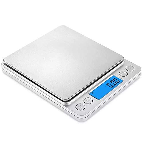 Balance de cuisine sans marque, balance électronique de haute précision, mini balance de cuisine portable en acier inoxydable, 1 kg/0,1 g, argent, Argenté., 200g/0.01g