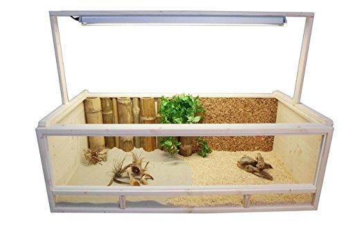 Tropic-Shop Holzterrarium für Landschildkröten, 120x60x40 cm