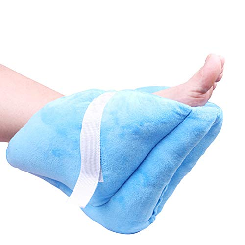 HahaGo Heel Protector Pillow Foot Support Pillows Feet Cushion Pad Soft Adjustable Ankle Protectors for Keeping Warm & Relieve Bed Sores (1PC, Blue)