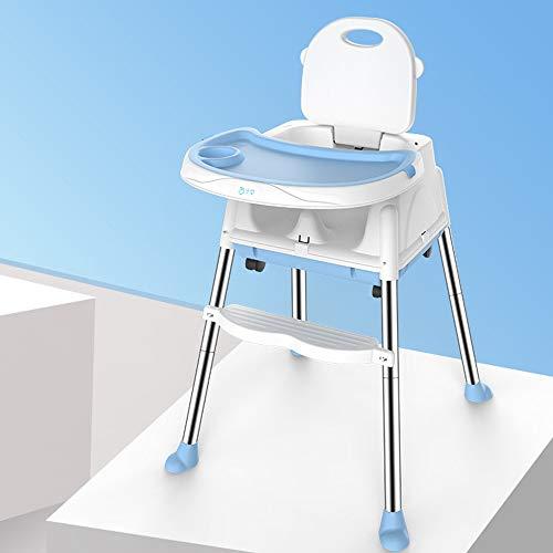 LMJ Outsider Kinderstoel, multifunctionele opvouwbare draagbare kinderstoel, eettafel, stoel, stoel, blauw, tafelmat (vier rondes verzenden)