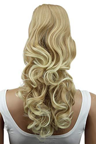 PRETTYSHOP 45cm Haarteil Zopf Pferdeschwanz Haarverlängerung Voluminös Gewellt Blond Mix PH10
