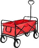 MaxxGarden Chariot de Jardin - charrette à Main - Chariot Transport Bricolage - 93x53x64 cm - Rouge