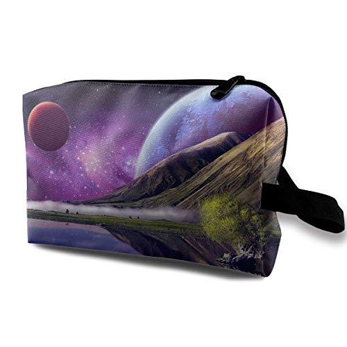 Women's Cool Space Planet Art Travel Hanging Toiletry Bag Portable Travel Kit Shaving Bathroom...