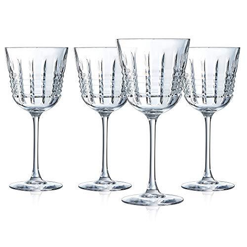 Cristal d'Arques L8235 Rendez-Vous - Juego de copas de vino (4 unidades, cristal, 35...