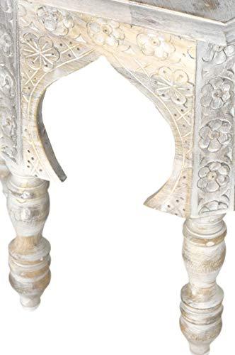 Marrakesch Jannat - Mesa auxiliar de madera de estilo marroquí (45 ...