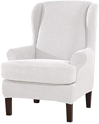 skyfiree Stretch Wingback Chair Slipco Wing Covers Raleigh Max 82% OFF Mall 2-Piece