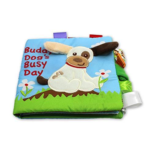 Athemeet Babybücher Weiches Tuch Crinkle Bücher Eule Stil Aktivität Buch Früherziehung Spielzeug Für Kinder Kleinkinder Frühes Baby.