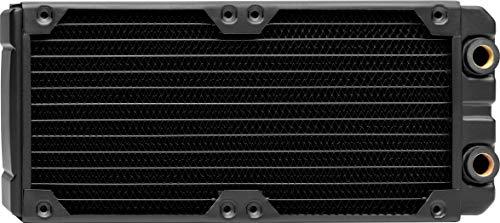 Corsair Hydro X Series, XR7 240 mm Radiador de Refrigeración Líquida (Dos Montaje de Ventilador de 120 mm, Fácil Instalación, Diseño Cobre, Guías Tornillos Ventilador Integradas, Grueso) Negro