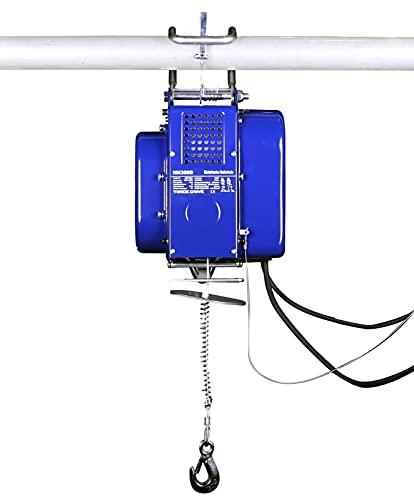 Mobile elektrische Seilwinde, Bauseilwinde, Stahlseil 12 m | 150 kg / 300 kg | 230 V mit Kabelfernbedienung Motorwinde
