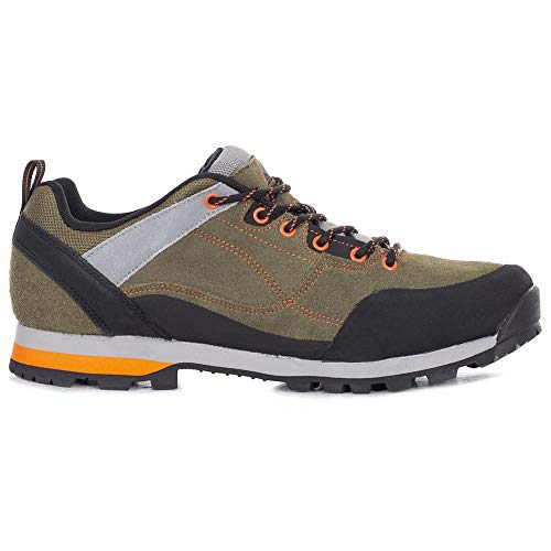 Trespass Vorce Herren Wanderschuhe, Grün (Oliv/Orange), 44 EU