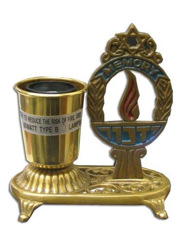 Brass Electric Yizkor Memorial Lamp