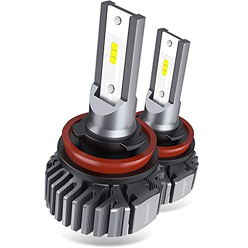 SEALIGHT H11 H8 H9 LED Headlight Bulbs, 60W 10000 Lumens 6000K White, Easy Installation, Low Beam H16 LED Fog Lights, Halogen Replacement CSP Chips, Pack of 2