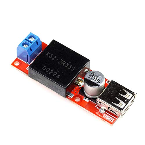 Paradisetronic.com 5V 3A DC / DC-Converter con puerto USB, voltaje de entrada 7-24V, módulo reductor KIS3R33S