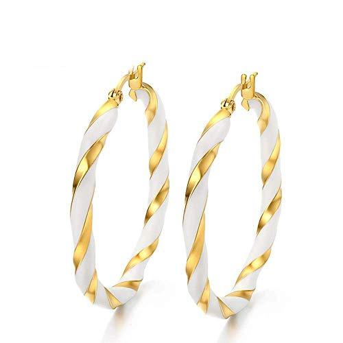 Ohrhänger Ohrstecker 925 Sterlingsilber Titanium Stahl Tropfen Kleber Gold Ohrring Antiallergisch Abschluss Geschenk Senden Freund 42Mm * 4Mm Westlichen Stil Modetrend Ohrringe, Thumby