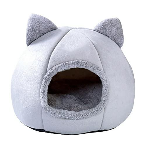 Mascota perro gato tienda casa casera caliente invierno suave cama plegable nido L
