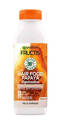 Garnier Fructis Hair Food Acondicionador de Papaya Reparadora para Pelo Dañado - 350 ml