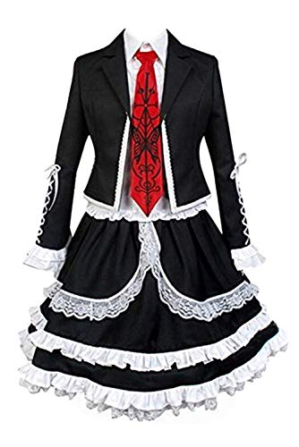 helymore Damen Celestia Ludenberg Cosplay Kostume Anime Yasuhiro Taeko Outfit Uniform Lolita Kleid, XXL