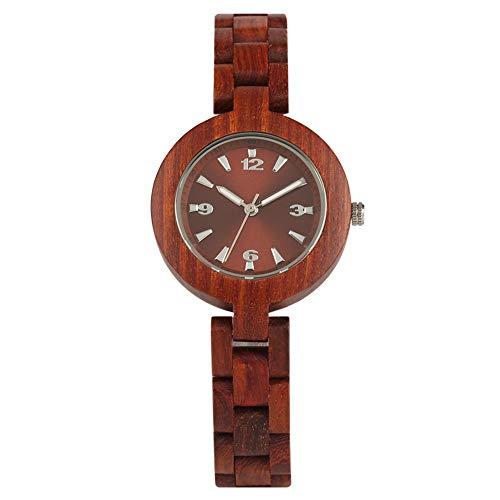 Houten Horloge, Analoge Display Volledige Houten Horloge voor Vrouwen Dames Kleine Wijzerplaat, Casual Business Houten Quartz Horloge - JLY Polshorloge