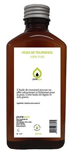 Huile de MASSAGE NEUTRE sans parfum, 100% végétale -100% PURE - 250 ml Purespa By Purenail