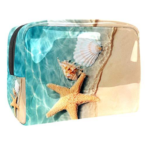 Makeup Bag Starfish shell Travel Makeup Bag Cosmetic Cases Organizer Portable Storage Bag Toiletry Bag 18.5x7.5x13cm