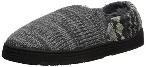 MUK LUKS Men's Christopher Slippers, Grey Marl, Medium (10-11) M US