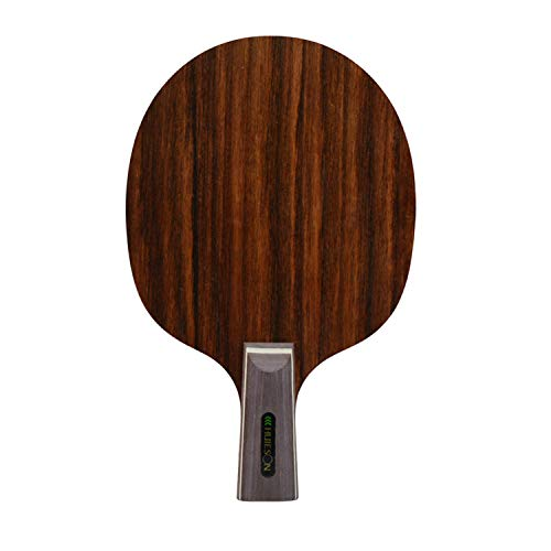 Best Deals! HUIESON Professional CS Short Handle Straight Grip 7 Plywood Table Tennis Blade 4 Ply Ay...