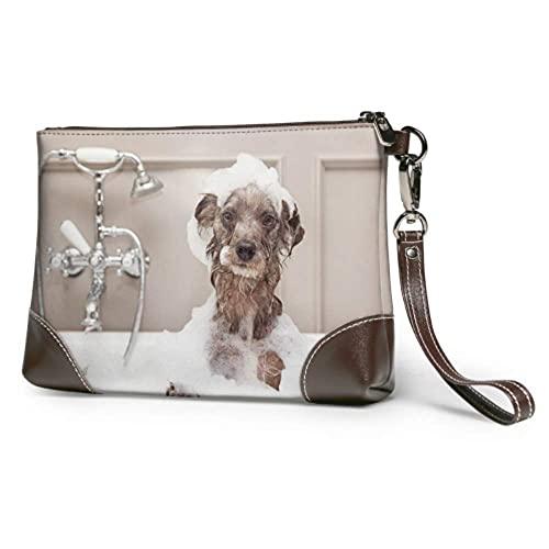Yaxinduobao Bolso de mano suave impermeable, bolso para perro, ducharse con agua, pulsera de cuero...