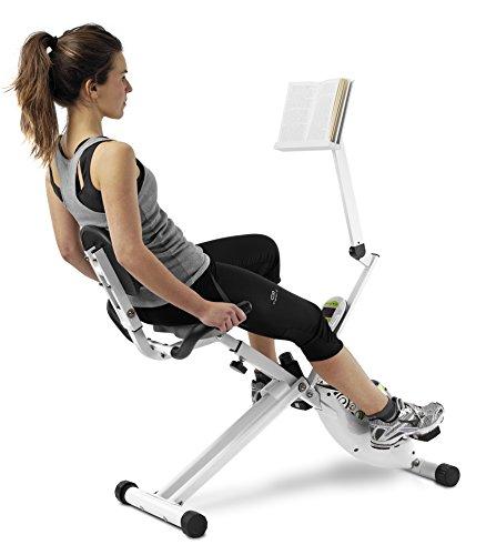 Tecnovita REC BIKE Recumbent Foldable Exercise Bike - 8kg/18lbs flywheel - Magnetic resistance - Ergonomic saddle with backrest - Folds easily and with transportwheels - YF93