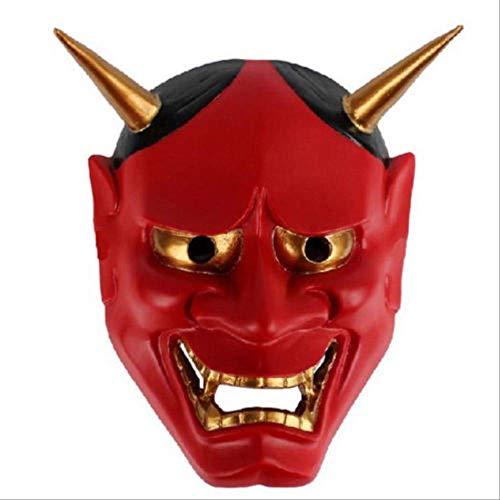 QWHW Vintage japanische buddhistische böse Oni NOH Maske Halloween Kostüm Horror Maskerot