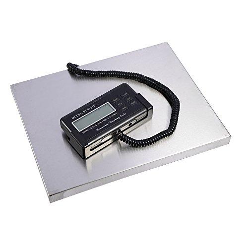 Digitale personenweegschaal met platform, 150 kg/300 kg, LED-display, voor pakketten, digitale weegschalen