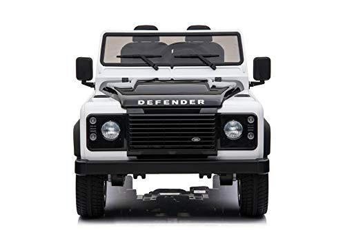 RIRICAR Coche de Juguete eléctrico, Land Rover Defender, con Licencia, Radio con Entrada USB / TF, Control Remoto de 2,4 GHz, batería 2 x 12V / 7AH, 4 X Motor