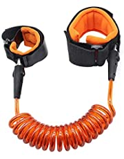 حزام امان لمنع ضياع الطفل، حزام يد للمشي مع الاطفال الصغار (لون برتقالي)