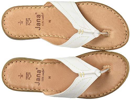 Jana 100% comfort Damen 8-8-27116-34 Pantoletten, Weiß (White 100), 44 EU