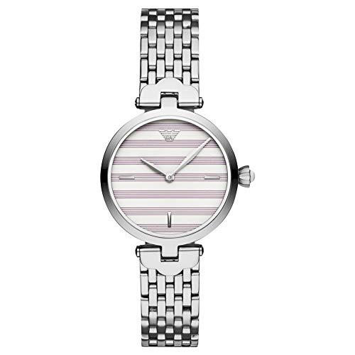 Emporio Armani Womens Analoog Quartz Horloge met RVS Band AR11195