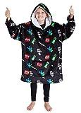 Minecraft Sudadera con capucha para niños, manta de gran tamaño, bata de forro polar para niños