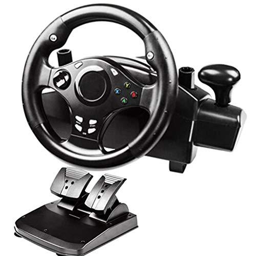 Prettyia Juego USB Volante con Pedales Set Dual Vibration Shifter para Xbox One