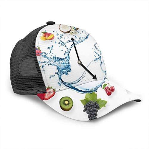 Berretto da Baseball Uomo Donna, Orologio organizzato Frutti sani Spruzzata da Trucker Regolabile Maglia ventilata Baseball Cappello da Sole Cappello da Donna Cappello