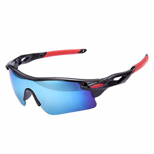 Deportes Al Aire Libre Bicicleta Mtong Pesca Gafas de Sol de Conducción Dorado (Negro / Rojo)