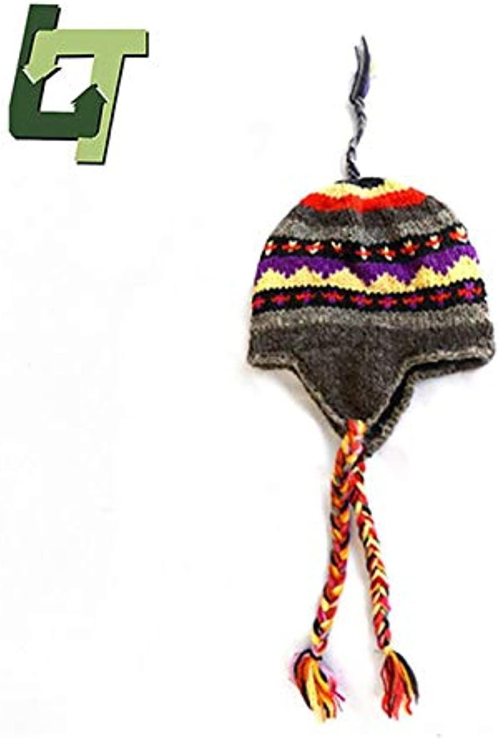 INFIKNIGHT INF Journey Wish Forest Outdoor Hat Nepal Characterist Handmade Folk Style Knit Warm earmuffs Hat colorful Ponytail Hiking Hat