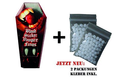 "DENTI VAMPIRO eckzähne "" BLOOD SUCKER "", con materiale thermoplast, PERFETTO FERMATA! Vamp, Halloween, vampiro, zombie, demone, strega, Fangs"