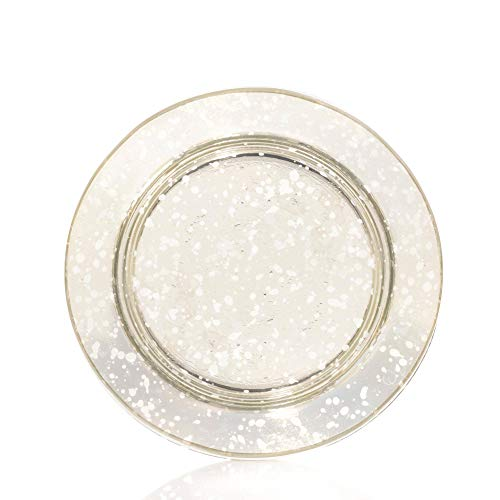 Yankee Candle Kensington - Paralume e piatto in vetro trasparente, misura piccola