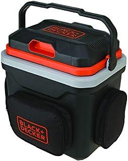 Black & Decker 24 Liter Thermoelectric Refrigerator Portable Automotive Car Beverage Cooler & Warmer, Black/Orange - BDC24...