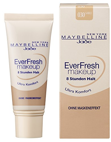 Maybelline New York Make Up, EverFresh Makeup, Langanhaltende Foundation, Nr. 30 Sand, 30 ml