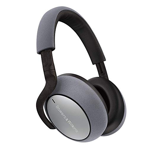 Bowers & Wilkins PX7 Over Ear Wireless Bluetooth Headphone, Adaptive Noise Cancelling - Silver (Renewed)