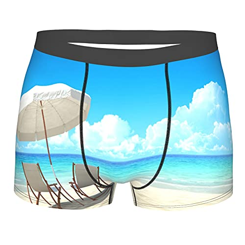 Qtchenglj Herrenunterwäsche,Strandkörbe,Boxershorts Atmungsaktive Komfortunterhose Größe XXL
