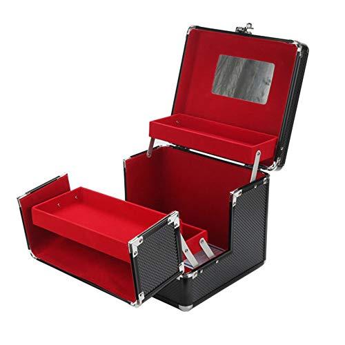 GYJ Make-up koffer met wachtwoordslot, Train Cases Cosmetic Organizer opbergdoos, Duurzaam ontwerp stofdicht en morsbestendig interieurs voor lang gebruik