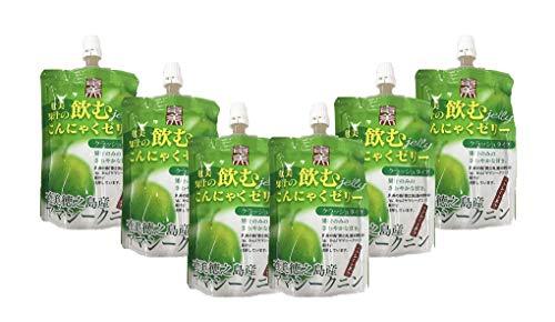 【奄美自然食本舗】奄美 飲むこんにゃくゼリー 徳之島 ヤマシークニン 130g✕6袋 デーツ 果汁使用 砂糖不使用 クラッシュタイプ |クエン酸…